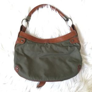Burberry Bags - Authentic BURBERRY Prorsum Green Nylon Leather Bag
